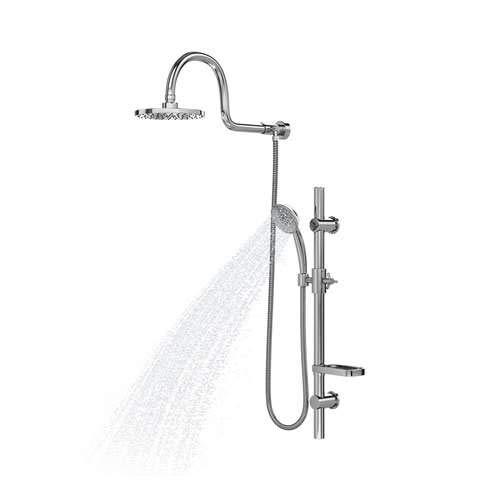 PULSE ShowerSpas 1019-CH Aqua Rain Shower System with 8