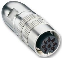 LUMBERG 0322 08 Circular Connector, 03 Series, Receptacle, 8 Contacts, Socket, Solder, Cable Mount (1 piece) 0322 08-LUMBERG_IT