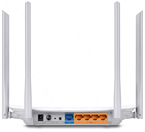 TP-Link Archer C50 AC1200 Dual Band Wireless Cable Router, Wi-Fi Speed Up to 867 Mbps/5 GHz + 300 Mbps/2.4 GHz, Supports… 2021 June Fast Wireless Speed — Supports 802.11ac standard - the next generation of Wi-Fi Lag-Free Work and Entertainment — Simultaneous 2.4GHz 300Mbps and 5GHz 867Mbps Dual Band connections for 1.2Gbps of total available bandwidth Superior Coverage — Four Fixed External antennas provide stable wireless connections and optimal coverage