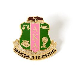 Alpha Kappa Alpha Sorority (AKA) 3D Color Shield Pin