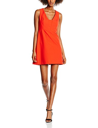 New Look Bonded Crepe, Vestido para Mujer Naranja