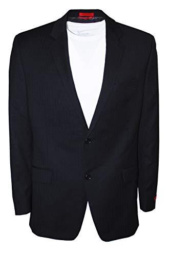 (Alfani RED Men`s Jacket Wool Black Shadow Stripe Two Button Sportcoat (36 Short))