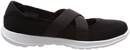 Skechers Janes Nero Donna Bianco 15407 Mary qqx1EwfH