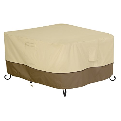 Classic Accessories 55-620-011501-00 Veranda Square Fire Pit/Table Cover, 52-Inch (Pits Fire Patio Furniture)
