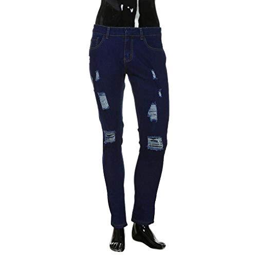 Jeggings Slim Uomo Matita Da Destrutturati Strappati Skinny Pantaloni Dunkelblau Elasticizzati Jeans Casual Fit Moderna qE75Uw