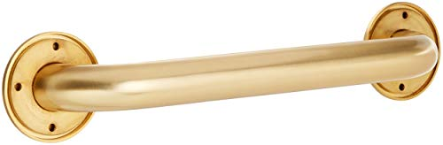 Jaclo 2512-SG Grab Bar with Traditional Round Flange, Satin Gold, 12