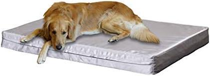 Premium Orthopedic Memory Foam Pet Bed Dog Bed with Durable Denim Zipper Cover and Waterproof Liner Free Bonus Replacement case