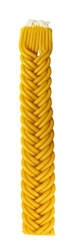 Braided Beeswax Havdalah Candle - Hand