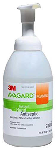 (CASE of 12) AVAGARD Foaming Instant Hand Antiseptic Hand Sanitizer 16.9 fl oz (500mL) Pump Bottles by 3M AVAGARD