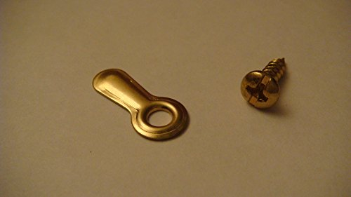 "100 Brass Plated Ridged Picture Frame 1"" Turn Buttons with Brass Plated Screws by AMS. Picture framing supplies."