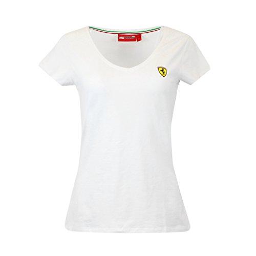 Scuderia Ferrari Formula 1 Women's 2018 White Classic V-Neck F1 (XL) ()