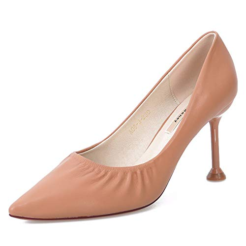 And Pointy Slim Heel Shoes Sexy Fine High Summer Shallow 9Cm Working And In Thin Naked Shoes SFSYDDY Commuting Women'S color Simple qvwfOgnv