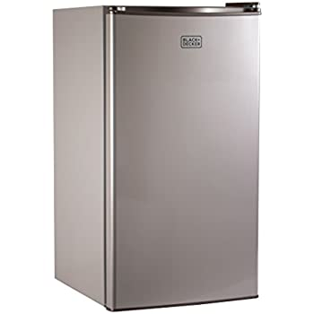 BLACK+DECKER BCRK32V Compact Refrigerator Energy Star Single Door Mini  Fridge With Freezer, 3.2 Cubic Ft, VCM