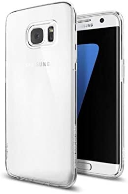 new style 279c2 a945b Galaxy S7 Edge Case, Spigen® [Liquid Crystal] NO Bulkiness [Crystal Clear]  Premium Semi-transparent Soft Case for Samsung Galaxy S7 Edge (2016) - ...