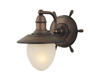 vaxcel wl25501rc nautical 1 light indoor wall sconce in antique red copper