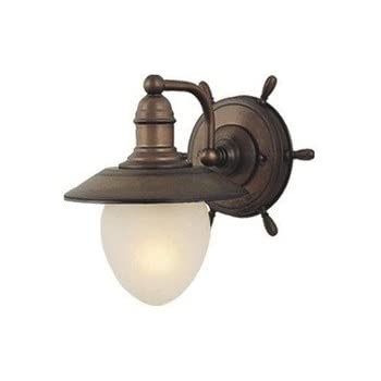 Vaxcel WL25501RC Nautical 1 Light Indoor Wall Sconce In Antique Red Copper,