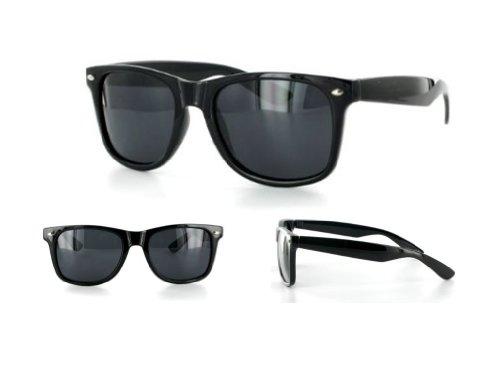 MJ Boutique's Glossy Black Polarized Retro Classic Sunglasses FREE - Boutique Glasses