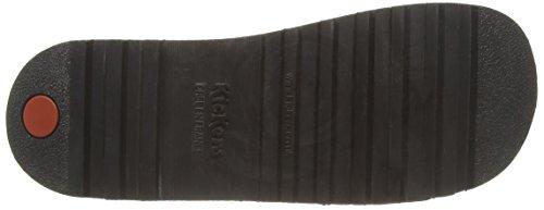 Junior black Unisex black Kick Kickers Nero Patent T Sandali Bambino nOO7wx