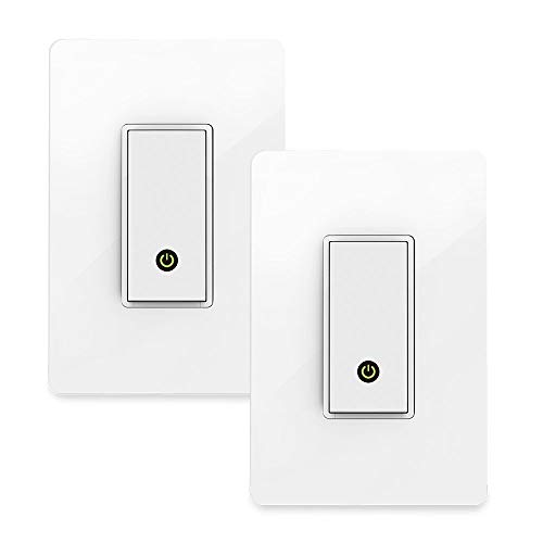 Wemo Light Switch 2-Pack, WiFi Enabled, Compatible with Alexa and The Google Assistant (Certified Refurbished)