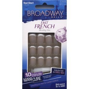 Amazon.com: Broadway Nails Fast French - Real Short (2-PACK): Health ...