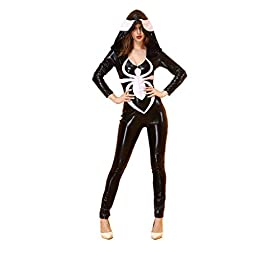 - 317DNnD6ylL - BADI NA Spider-Girl Deluxe Bodysuit Womens Adult Costume