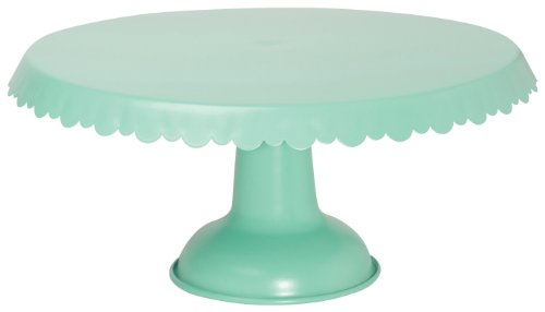 Now Designs Tin Cake Stand, Aqua - -