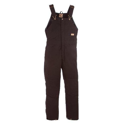 Berne Women's Washed Insulated Bib Overalls Regular Black ()