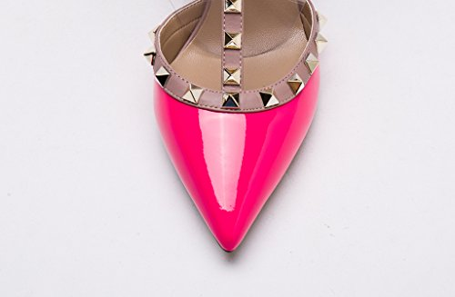 Patent Gold Pan Nude Pointed Kaitlyn Studded Slingback Pumps French Leather Fuchsia Kitten Studs Toe Trim Heel SWwgq1PpW