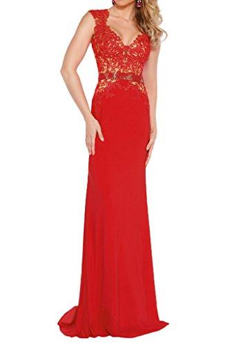 Blau Kurzarm Brautmutterkleider Braut Meerjungfrau Rot Ballkleider Abendkleider Spitze Festlichkleider La mia Tq6wE