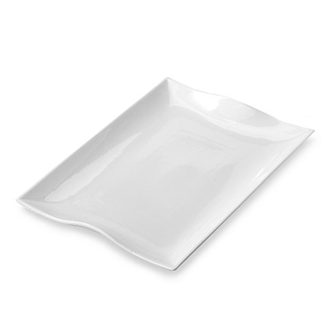 Everyday White Rectangular Serving Platter