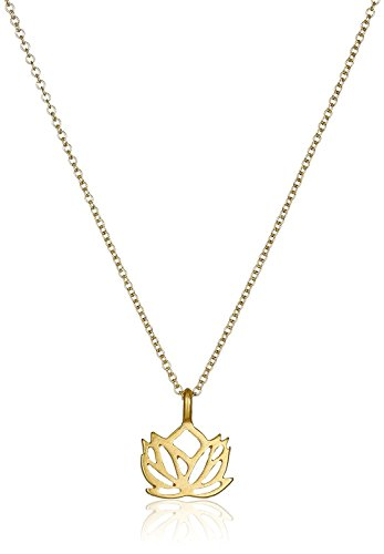Wish Make Dogeared A Necklace (Dogeared Make a Wish Lotus Gold Dipped 16