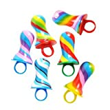Rainbow Swirl Pacifier Candy Rings (1 dz)