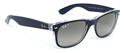 Ray-Ban RB2132 6053M3 NEW WAYFARER Sunglasses Gradient Polarized ( Blue Frame / Gray Gradient Polarized Lens 6053M3 , 55)