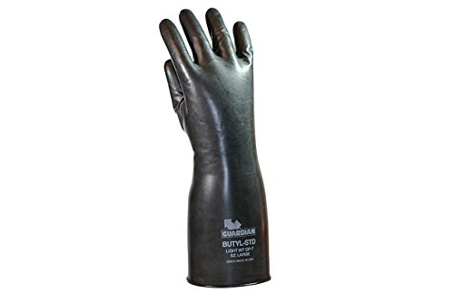 Guardian Gloves (Guardian CP-7 Butyl Coated Smooth Finish Short Glove 7 Mil (1 Pair) Size Small Made in USA!)