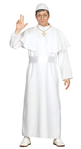 Mens White 4pc Pope Catholic Priest Holy