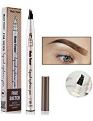 Tattoo Eyebrow Pen Waterproof Ink Gel Tint with Four Tips, Long Lasting Smudge-Proof Natural Hair-Like Defined Brows All Day(Great Grey)