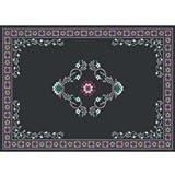 Guardian MLL-00002791 DECOR Designs Elegant Decorative Indoor Floor Mat, 6' x 8', Black