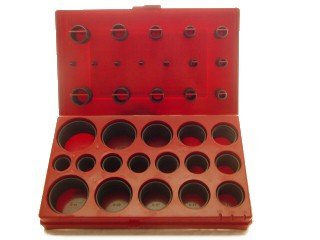 407 Pieces O-RING ASSORTMENT SET GASKET KIT with Case AUTOMOTIVE PLUMBING - New