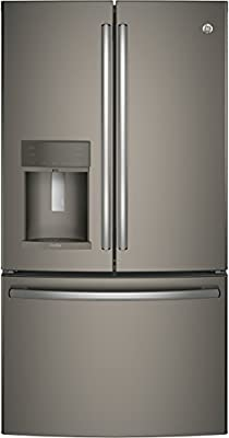 """GE Profile PYE22KMKES 36"""" Energy Star Qualified Counter-Depth French-door Refrigerator with 22.2 Cu. Ft. Capacity in Slate"""