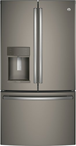 GE Profile PYE22KMKES 36' Energy Star Qualified Counter-Depth French-door Refrigerator with 22.2 Cu. Ft. Capacity in Slate