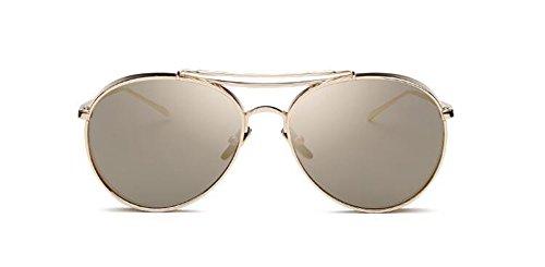métallique Local du de rond en cercle lunettes style polarisées Lennon Or retro vintage soleil inspirées x6xdIAPq