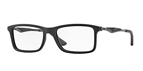 Ray-Ban Men's RX7023 Eyeglasses Matte Black - Frames Ray For Men Ban Eyeglass