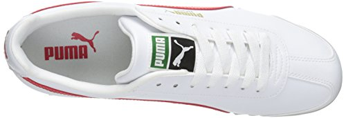 PUMA Men's Roma Basic Fashion Sneaker, White/High Risk Red/White - 9 D(M) US by PUMA (Image #8)