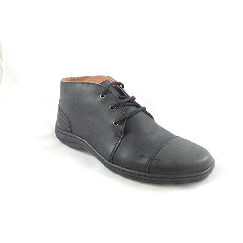 Softwalk schwarz Leder Schnürschuh Casual Stiefel