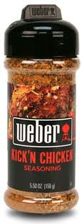 WEBER Grilling Seasoning KICK'N CHICKEN 5.5 oz.