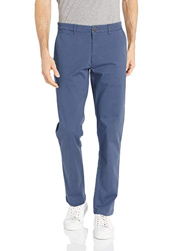 Goodthreads Men's Slim-Fit Washed Stretch Chino Pant, Denim, 42W x 32L