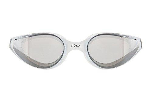 d4d834e99ae ROKA R1 Anti-Fog Swim Goggles with RAPIDSIGHT Razor Sharp Optics - Arctic  Mirror