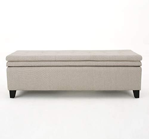 Christopher Knight Home Brighton Linen Storage Ottoman