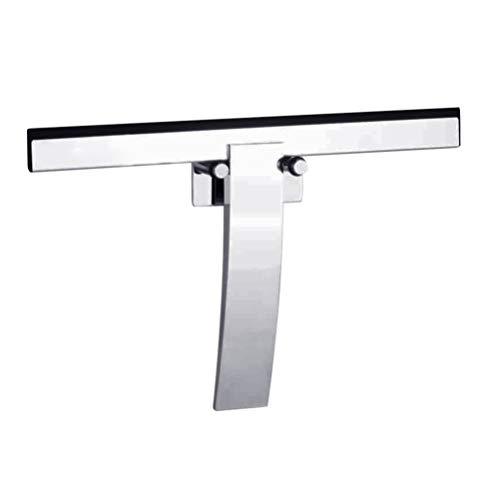 BESPORTBLE Duschrakel Zinklegierung Scheibenwischer Schaber für Glas Badezimmertür Fensterspiegel (Silber)