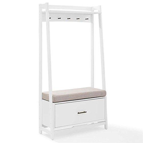 Crosley Furniture Landon Hall Stand - White (Cushion Bench Tree)
